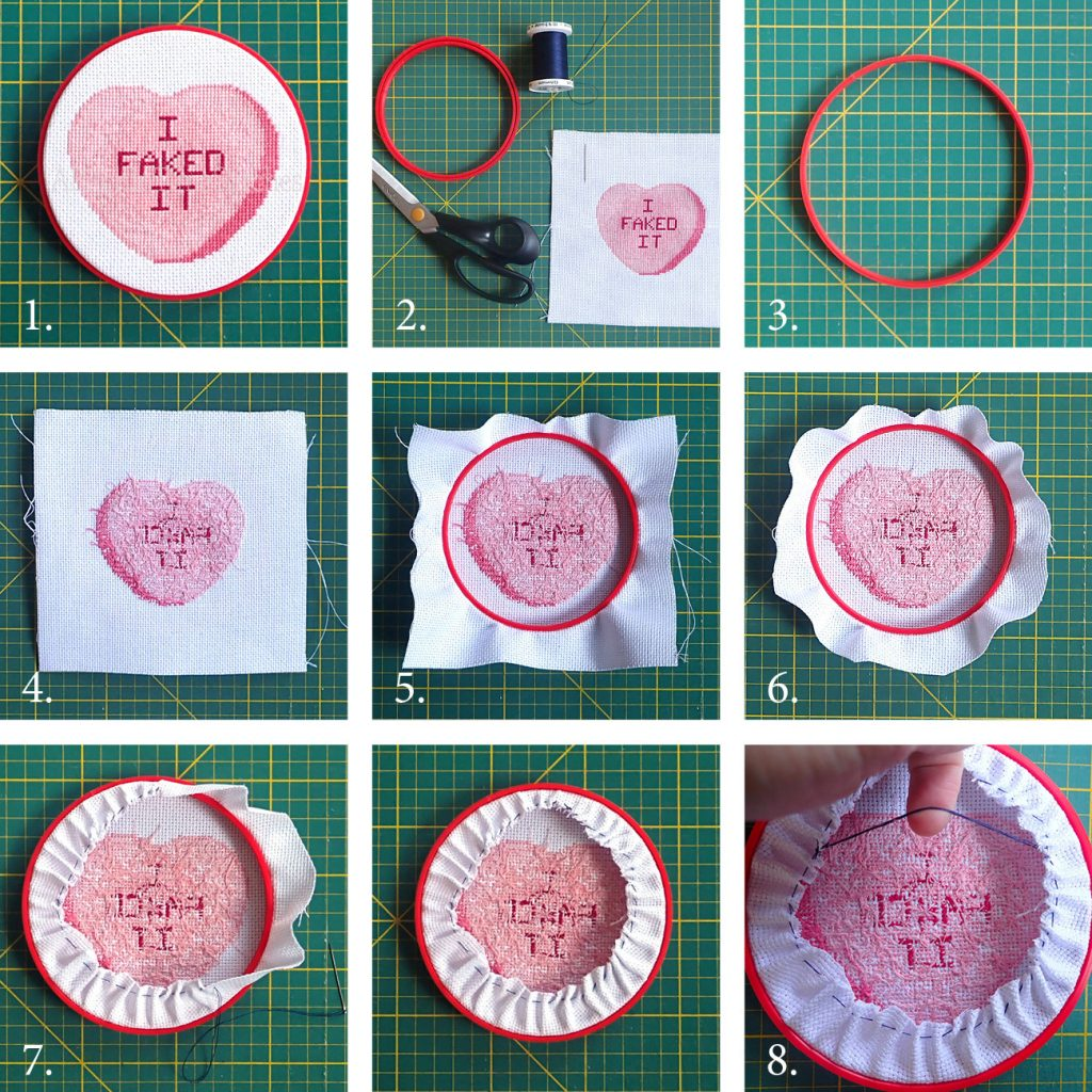Steps for mounting the 3D printed hoop frames